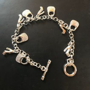 Jewelry - New Sterling Silver Plated Charm Bracelet